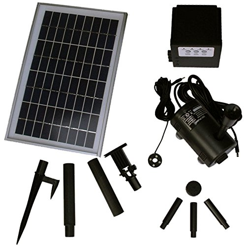 Sunnydaze Solar Pump and Solar Panel Kit With Battery Pac...
