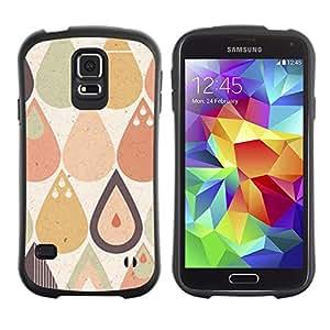 Paccase / Suave TPU GEL Caso Carcasa de Protección Funda para - Drop Raindrop Tear Pattern Pastel Shape - Samsung Galaxy S5 SM-G900