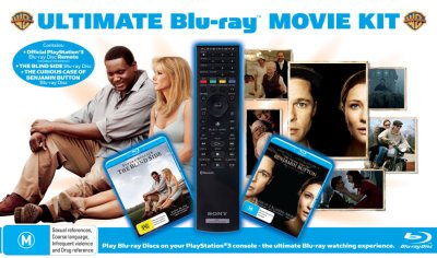 The Blind Side / The Curious Case of Benjamin Button / Genuine PS3 Remote Control [Blu-ray Movies with Remote Pack] [NON-USA Format / Region B Import - Australia]