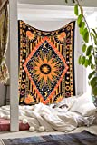 Ambika Designs 100% Cotton Handmade Hippi Bohemian Indian Diamond and Son Wall Hanging Twin Size Tapestry