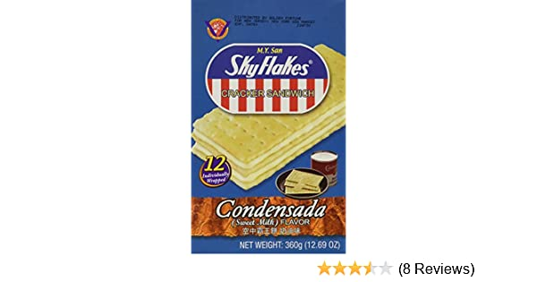 Amazon.com: M.Y. San SkyFlakes Cracker Sandwich (Condensada - Sweet Milk Flavor) - 12.69 OZ