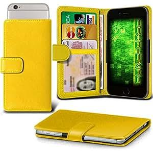 Yellow LG Leon Case Clamp Estilo PU protectora de piel cubierta por Fone-Case
