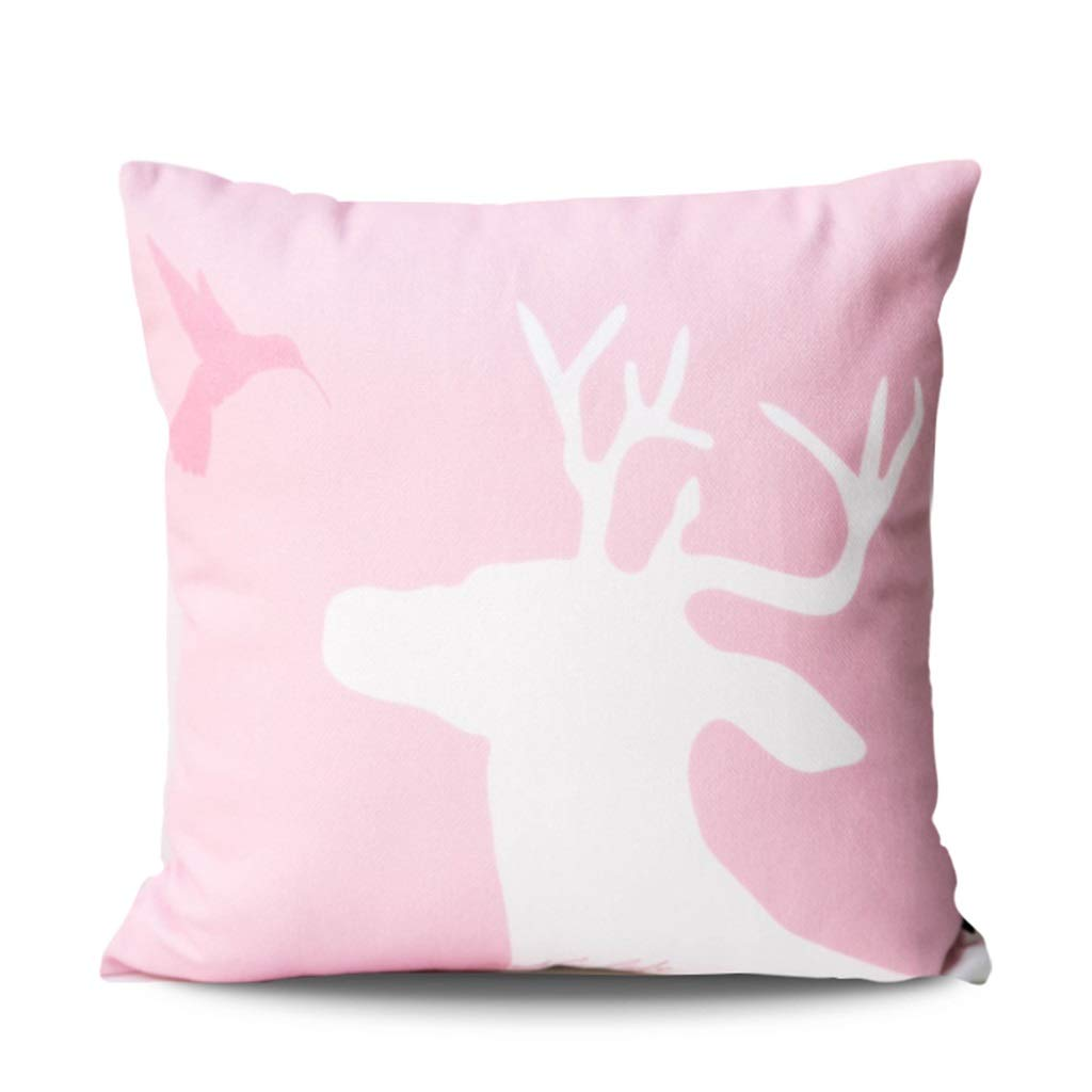 ZDNALS Pink Pillow, Square Print Cushion, Home Decoration Sofa Chair Cushion 43cm×43cm Pillow (Pattern : H) by ZDNALS