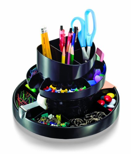 Officemate Deluxe Rotary Organizer, 16 Compartments, Recycled,