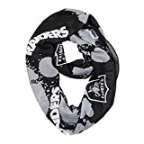 NFL Oakland Raiders Silky Spatter Infinity Scarf