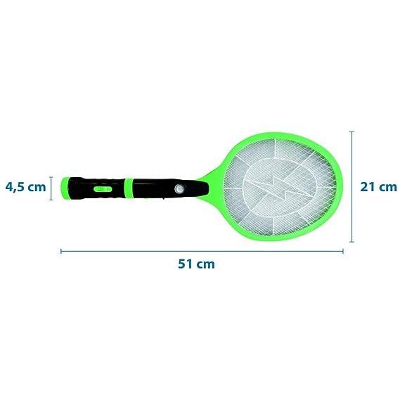 Poly Pool - Raqueta electrónica para insectos, color verde: Amazon.es: Hogar