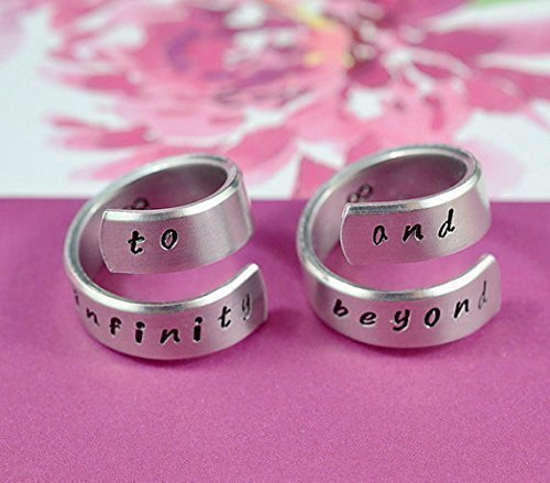 to infinity and beyond - Hand Stamped Aluminum Spi…