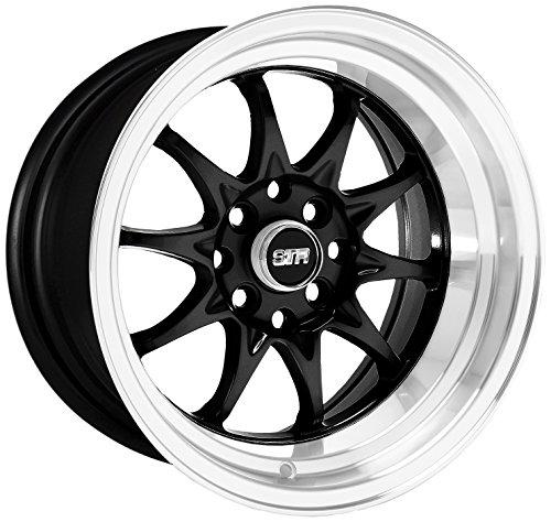 STR RACING STR513 Black Wheel with Machine Lip (17x9