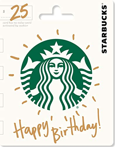 Starbucks Happy Birthday Gift Card $25 (Best Way To Use Amex Reward Points)