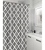 Long Shower Curtain Vandarllin Geometric Patterned Waterproof 100% Polyester Fabric Shower Curtain for Bathroom 72