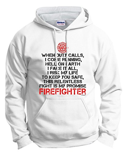 ThisWear Firefighter's Vow, Occupation Firefighter Gift Hoodie Sweatshirt XL White