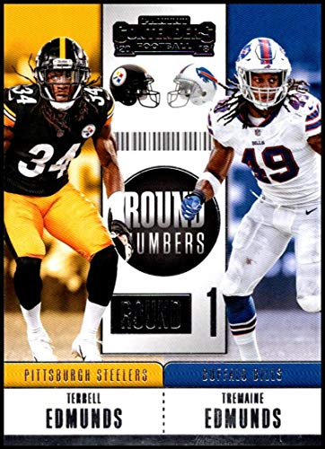 2018 Panini Contenders Round Numbers #RNA-EE Terrell Edmunds/Tremaine Edmunds Buffalo Bills/Pittsburgh Steelers RC Rookie NFL Football Trading Card
