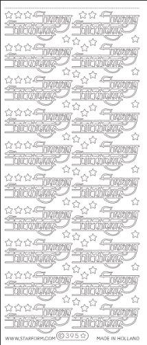 - Elizabeth Craft Designs Happy Birthday Peel Off Stickers 4x9 Sheet: Gold