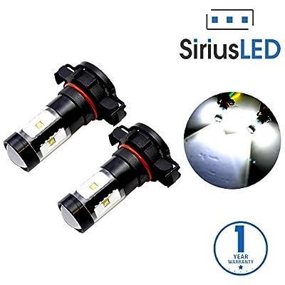 SiriusLED Super Bright White 5202 2504 PSX24W 30w Projection LED Fog Light DRL 6000k White