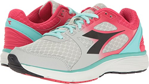 Diadora Women's Run 505 Gray Violet/Black Athletic Shoe