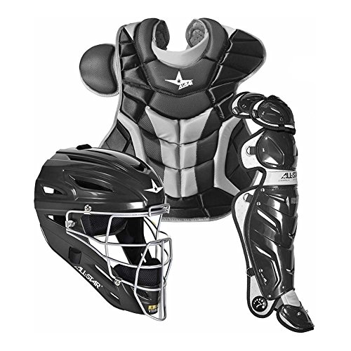 All Star System7 CKPRO1 Professional College Catchers Gear Set S7 AS Black ADULT 15+