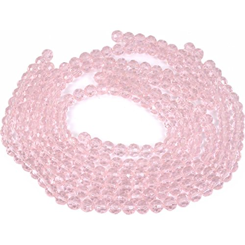 (Pink Faceted Round FP Chinese Crystal Beads 8mm 5 St)