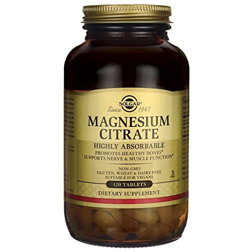 (Solgar Magnesium Citrate, Highly Absorbable, Promotes Healthy Bones, Non-GMO, Suitable for Vegans, 120)