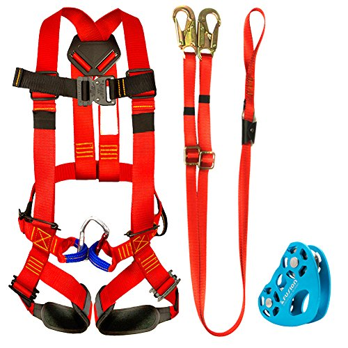 Fusion Climb Kids Backyard Zip Line Kit Harness Lanyard Trolley Bundle FK-K-HLT-03 by Fusion Climb