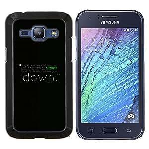 """Be-Star Único Patrón Plástico Duro Fundas Cover Cubre Hard Case Cover Para Samsung Galaxy J1 / J100 ( Motivación Fuerza Mensaje"""" )"""