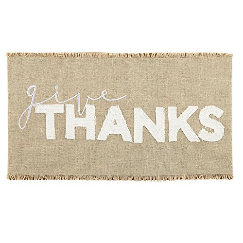 """Mud Pie """"Give Thanks"""" Pillow Wrap"""