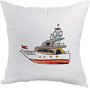 Printed Pillow, Polyester fabric 40X40 cm, Boat