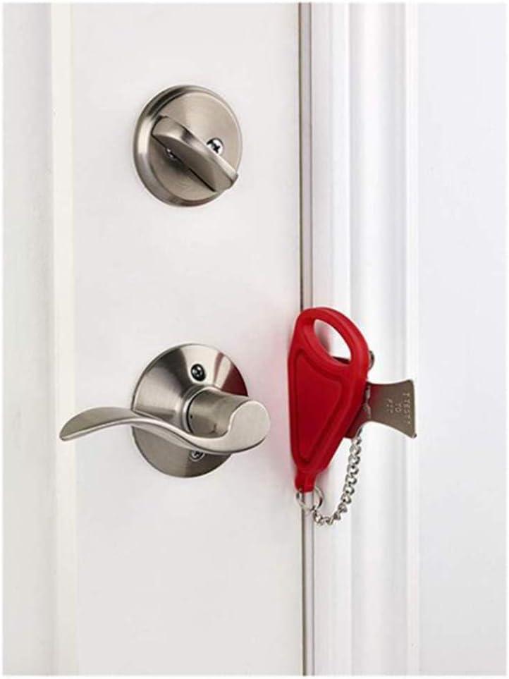 MINGZE La cerradura de la puerta portátil original, la cerradura de viaje, la cerradura de bloqueo de la escuela, la cerradura de la puerta temporal súper fuerte, para el hogar de seguridad
