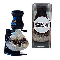 La brocha de afeitar con 100% de pelo de tejón puro de Ship Shave le brindará el mejor afeitado en húmedo clásico del dinero: mejore la calidad de su experiencia de afeitado hoy
