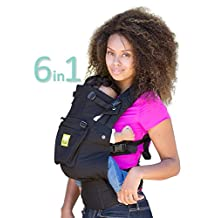 SIX-Position, 360° Ergonomic Baby & Child Carrier by LILLEbaby - The COMPLETE Original (Black/Black)