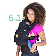 LÍLLÉbaby The COMPLETE Original SIX-Position, 360° Ergonomic Baby & Child Carrier, Black