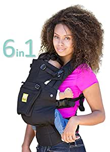 SIX-Position, 360° Ergonomic Baby & Child Carrier by LILLEbaby – The COMPLETE Original (Black)