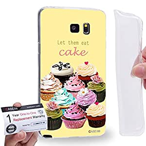Case88 [Samsung Galaxy Note 5] Gel TPU Carcasa/Funda & Tarjeta de garantía - Art Drawing Let Them Eat Cake Cupcake Assorted Art1287