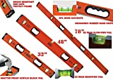 Johnson Level 32'' & 48'' & 78'' Hi-Viz Orange Ultra Level Door Jamb Set