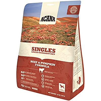 ACANA Singles Beef and Pumpkin Formula Dry Dog Food 12 Ounces