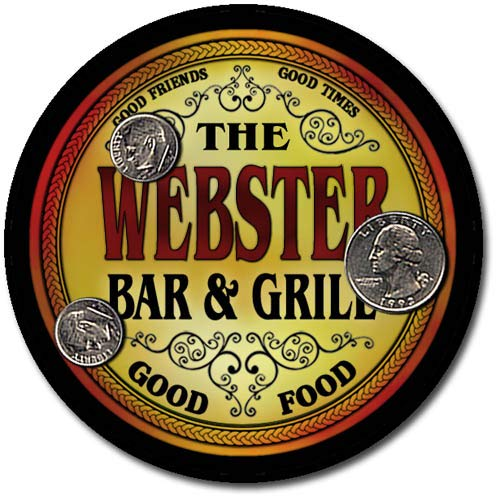 (Webster Family Bar and Grill Neoprene Drink Coasters)