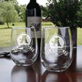 Stemless Wine Glasses, Personalized Wine Lover Gift Ideas, SET OF 2 (m8) For Sale
