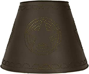 CTW Home Collection Rustic Brown Star Washer Top Lamp Shade Home Accents