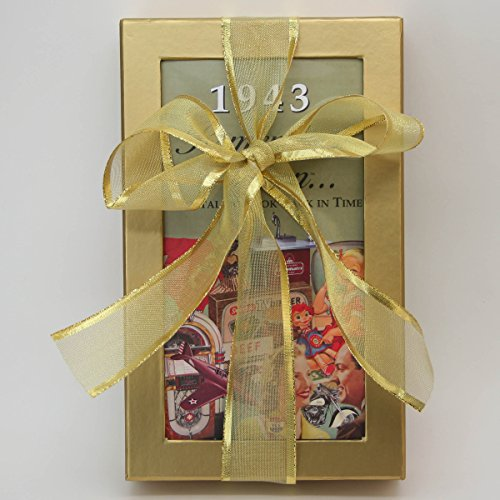75th Birthday Gift Basket Box - Live Your Life - with 1943 Trivia Booklet