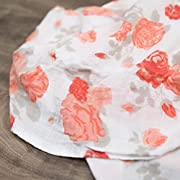 Saranoni Luxury Decorative Muslin Swaddle Baby Blanket (Just Peachy)