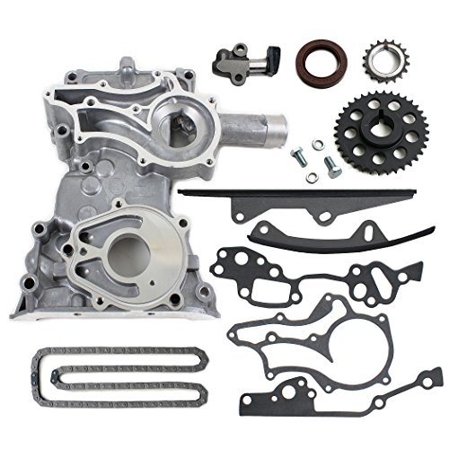 (NEW TK10120TC HD Timing Chain Kit (2 Heavy Duty Metal Guide Rails) & Timing Cover / 85 - 95 Toyota 2.4L 4Runner Pickup Celica 4-Cylinder SOHC 8-Valve Engine 22R 22RE 22REC)