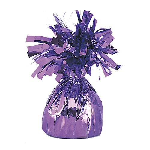 Unique Party Foil Tassels Balloon Weights (Pack of 6) (One Size) (Lavender)