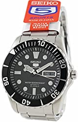 SEIKO Automatic Black Men's Made in Japan Watch Ref#SNZF17J1