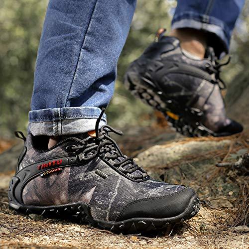 Outdoor confortevole caldo Walking Men Boots traspirante Boots Gomnear e For Grey Hiking Trekking Leggero Camouflage wgHpa0q