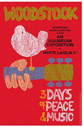 w13 Woodstock Festival Textile Poster -