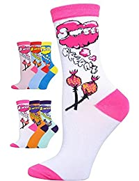 Novelty Socks 6 Pairs Ladies and Teenager Assorted Designs and Colors