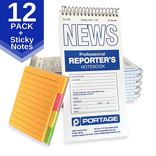 Portage Reporter's Notebook and Sticky Note Tabs - #200 Gregg Ruled 4