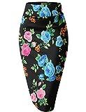 Womens Pencil Skirt for Office Wear KSK43584 10515 BLACK/MULT XS