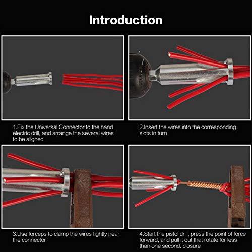 color plateado 4 cuadrados autom/ático Pelador de cables de 2,5 pelador de cables para taladro el/éctrico