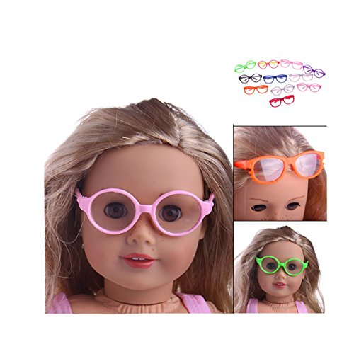 Sunward Doll accessories, 1 PC Glasses For 18 Inch Dolls Fit 18 Inch Generation American Girl Doll (E)