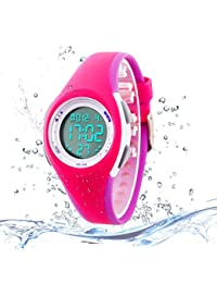 Kids Digital Sport Watch Outdoor Waterproof Watch with...